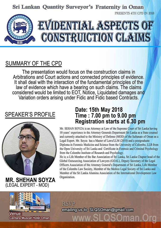 """CPD 2018/04 – """"Evidential Aspects of Construction Claims"""
